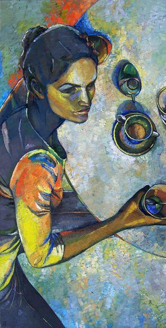 Papageorgiu Andrea  'Weekday'  2014  Oil on canvas