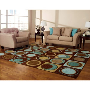 Better homes and gardens circle block rug rugs brown Better homes and gardens living room ideas