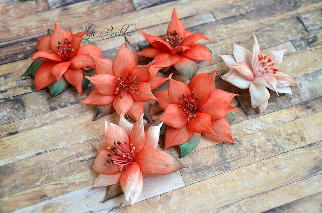 Foamiran flowers, DT Craft Passion, kwiaty z wykrojnika, jesienne kwiaty handmade.
