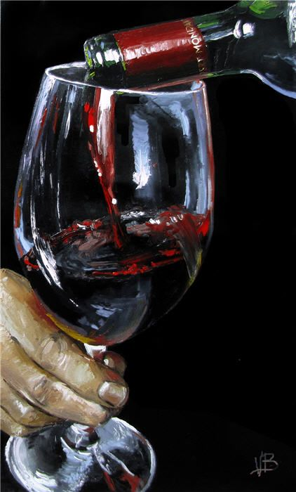 pouring wine painting - Google Search