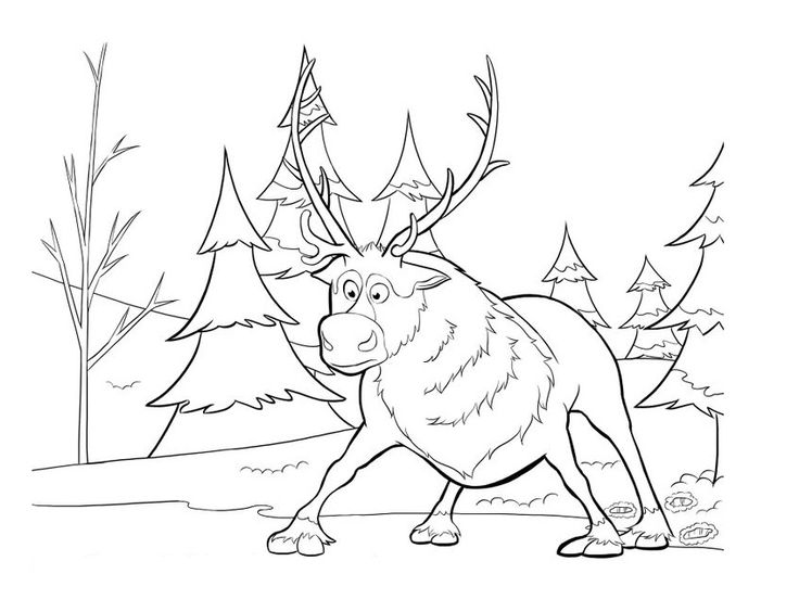 frozen coloring pages sven printable coloring pages sheets for kids get the latest free frozen coloring pages sven images favorite coloring pages to - Sven Reindeer Coloring Pages