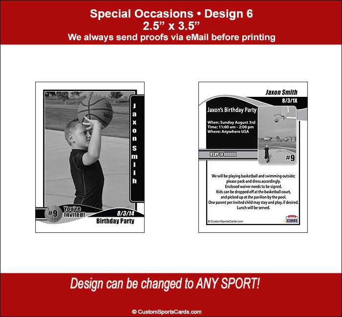Sample Trading Card - Design Templates