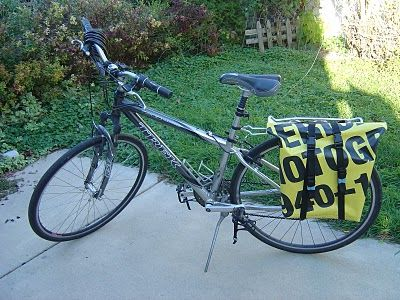 Energy of the Mind...from Artist to Triathlete: DIY Bicycle Panniers from Scratch