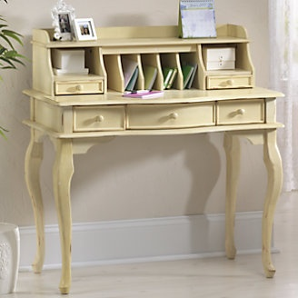 I have wanted a secretary desk ever since I saw my grandmother's desk (brownish-black antique) when I was a child... I wanted to secretly spend time writing there but giant stacks of important documents kept me from that desk. So... Here I am wanting one!