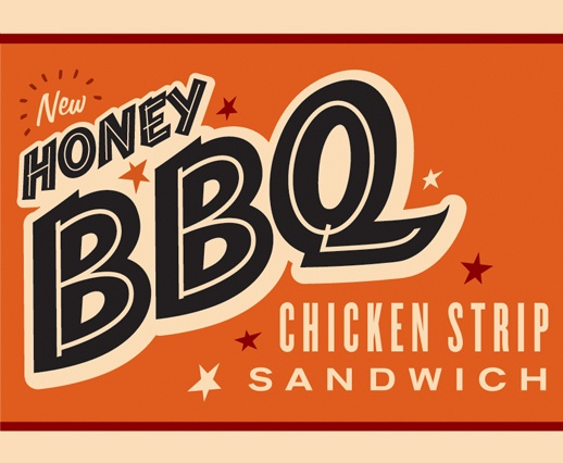 Whataburger : Point-of-Purchase Promotion #illustration #promotion #typography