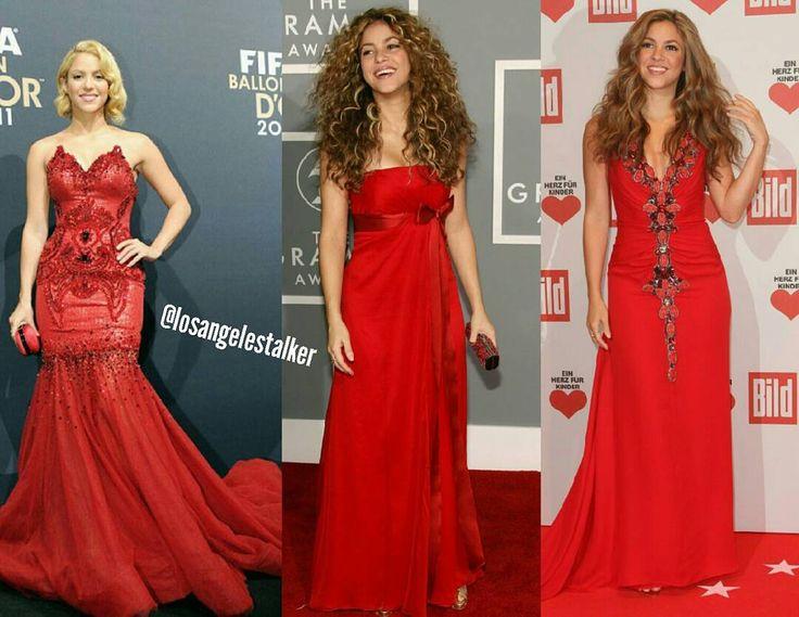 Which is Shakira's best red dress? ���� #shakira #reddress #red #dress #redcarpet #awardshow #grammys #fashion #ootd #womenfashion #hair #makeup #outfit #style #kardashian #gown #glam #celebrity #instagram #losangeles #losangelestalker http://tipsrazzi.com/ipost/1522370790673199131/?code=BUgjCsSgbAb