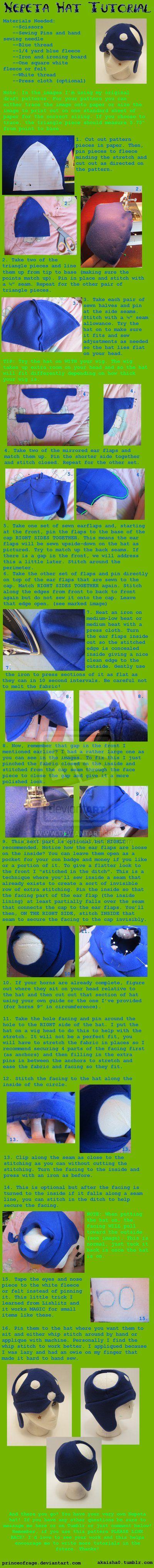 Nepeta Hat Sewing Tutorial by PrinceOfRage.deviantart.com on @deviantART