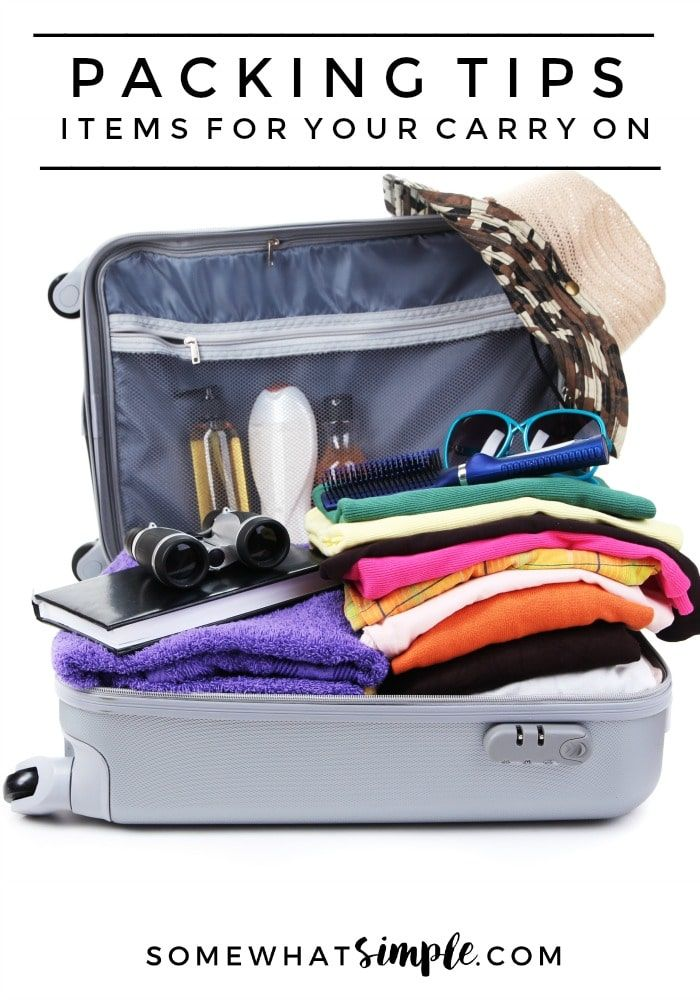 Packing Tips - Packing for Vacation | Here are some helpful packing tips and items not to forget in your carry on!