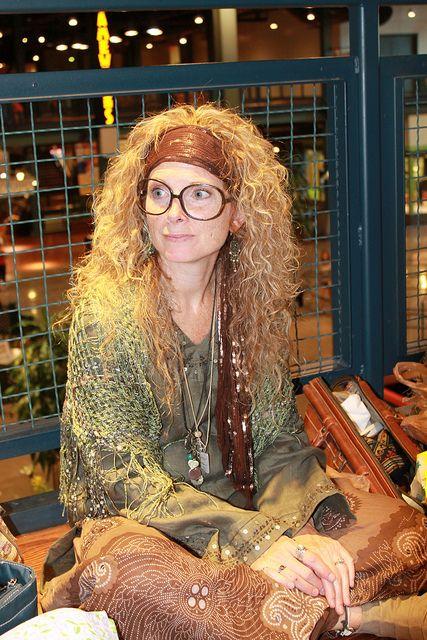 Harry Potter premiere - Professor Trelawney costume | Flickr: Intercambio de fotos