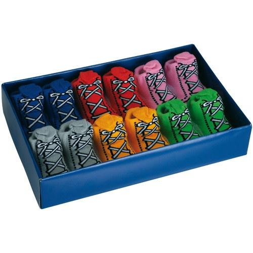 keladeco.com - Coffret 6 #chaussettes bébé #baskets garçon, idée #cadeau #naissance garçon - La chaise longue
