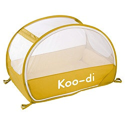 Koo-di Pop Up Bubble Travel Cot, Lemon and Lime - travel camping cot