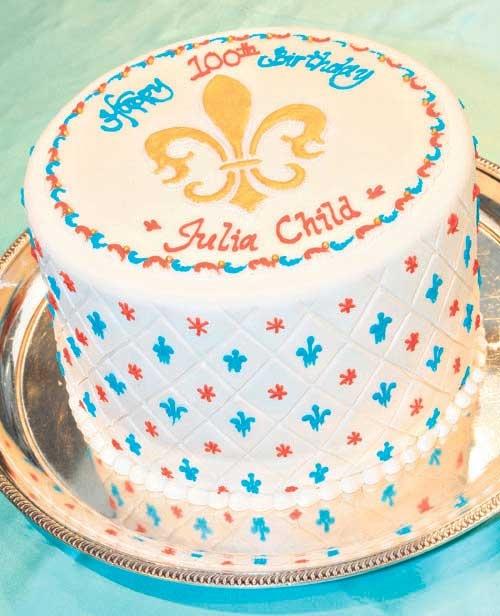 Beautiful Julia Child birthday cake!
