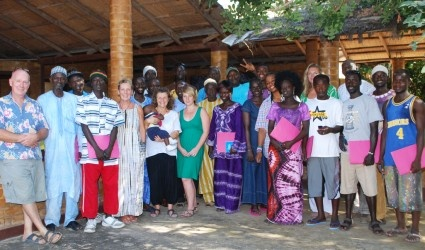 In January 2011, a group of European volunteer designers began working with local craftspeople in southern Gambia to help them develop products to sell to tourists. The team developed a showcase of the products at Sandele Eco Resort to enable the producers to market their new product range.