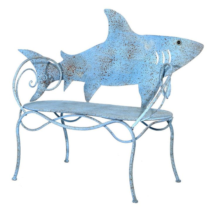 Cape Craftsman Shark Cut Out 56 in. Metal Outdoor Bench - 8MB015