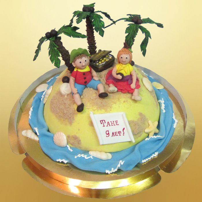 Торт остров робинзона