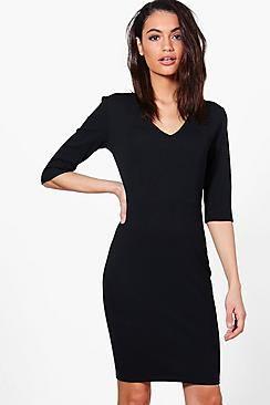 Sara Fitted Mid Sleeve Dress