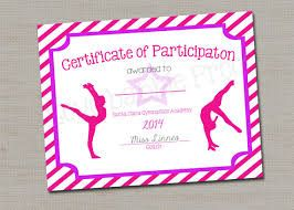 certificate for dance competition