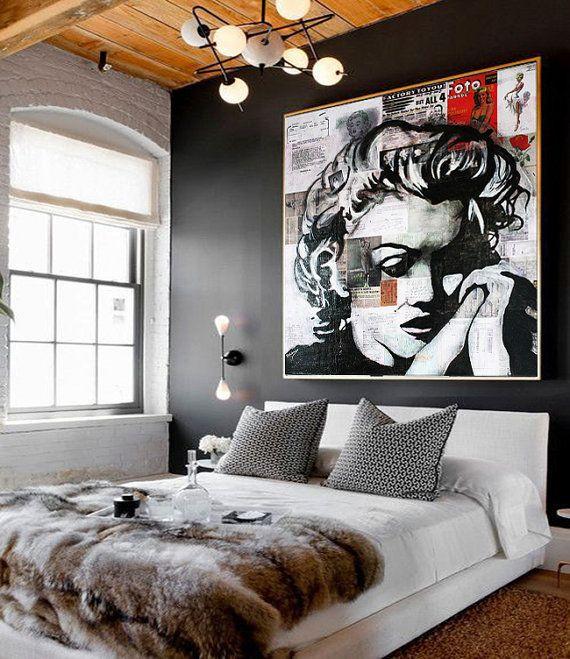 Marilyn MONROE Canvas Marilyn Monroe Decor Portrait de Star