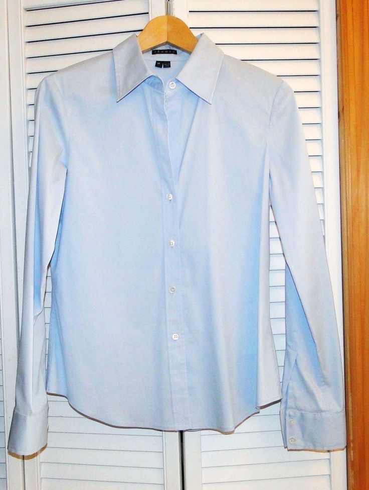 Theory Blue Perfectly Tailored Shirt Button Down Shirt. Free shipping and guaranteed authenticity on Theory Blue Perfectly Tailored Shirt Button Down ShirtTHEORY Perfectly Tailored Shirt, sz Medium, color ...