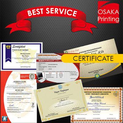 Osaka Printing: CETAK SERTIFIKAT MURAH