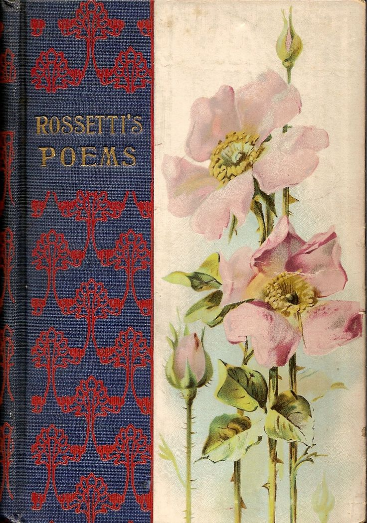 Antique early 20th century decorative publisher's edition, Rossetti's Poems.