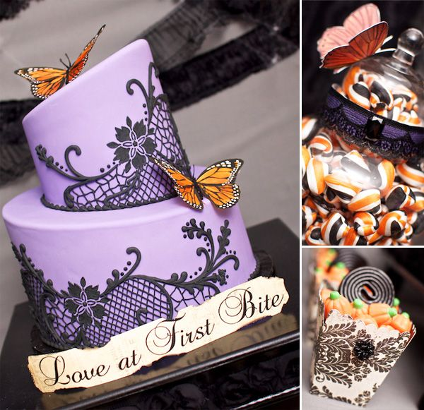 Victorian Halloween.  Great desserts and I adore that cake.