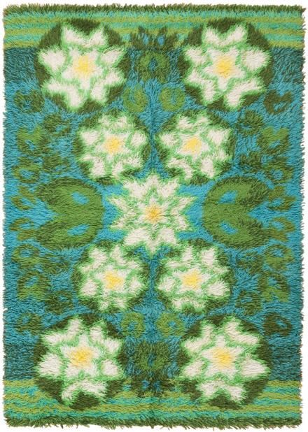 Vintage Rya Rug 45791 Main Image - By Nazmiyal