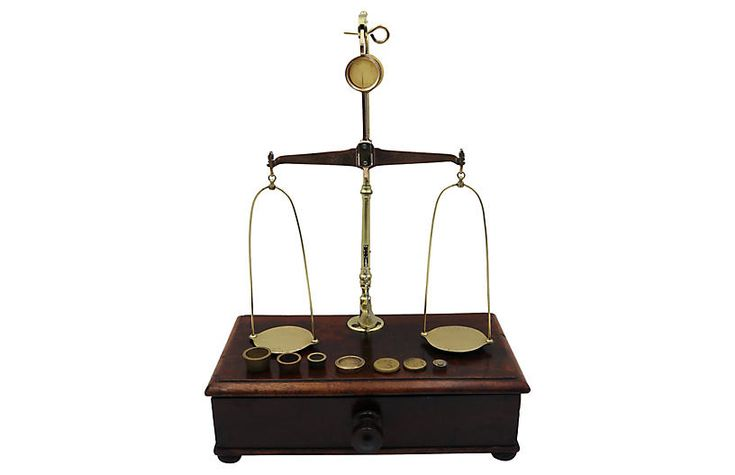 Antique English Brass Jewelry Scale $525.00