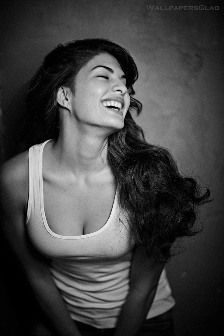 Jacqueline Fernandez Hot Black & White HD Photoshoot Image 1