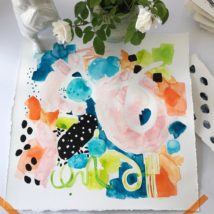 Confetti Original Art #abstract-painting #confetti #featured