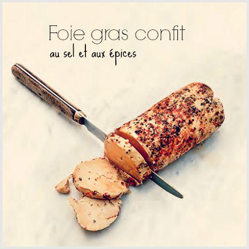 Foie gras confit au sel et aux épices #recette
