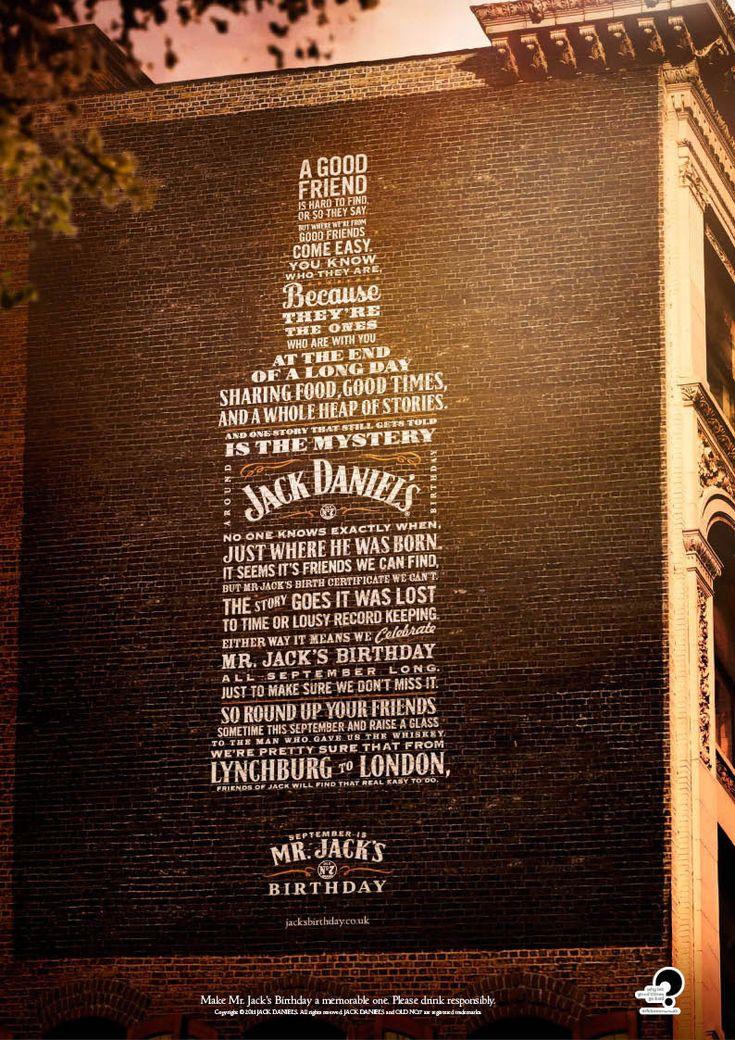 Jack's Birthday 2011 #typography #jackdaniels
