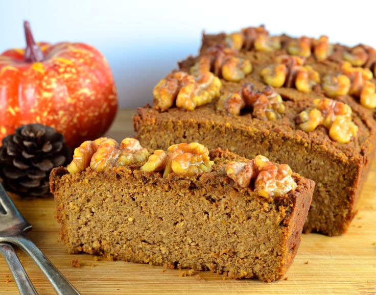 FMD Pumpkin Bread, topped with crunchy walnuts -- get this recipe from our newsletter.