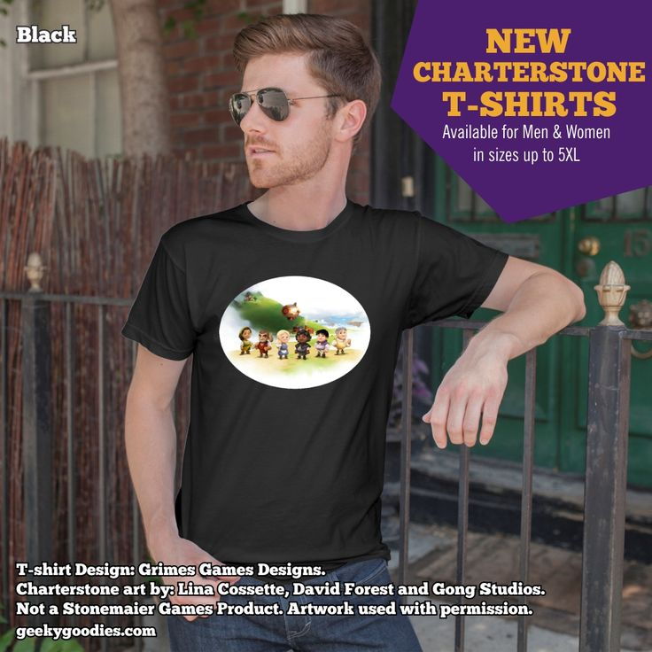 NEW CHARTERSTONE T-shirts available!  Welcome to the Kingdom of Greengully. Wear this shirt as you journey through Charterstone's many secrets! Check them out at: https://www.geekygoodies.com/charterstone Not a Stonemaier Games Product. Artwork used with permission.  #Charterstone
