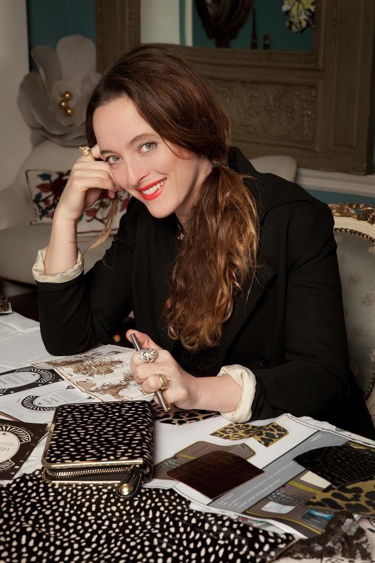 Alice and the making of the Limited Edition Filofax in the Temperley studio