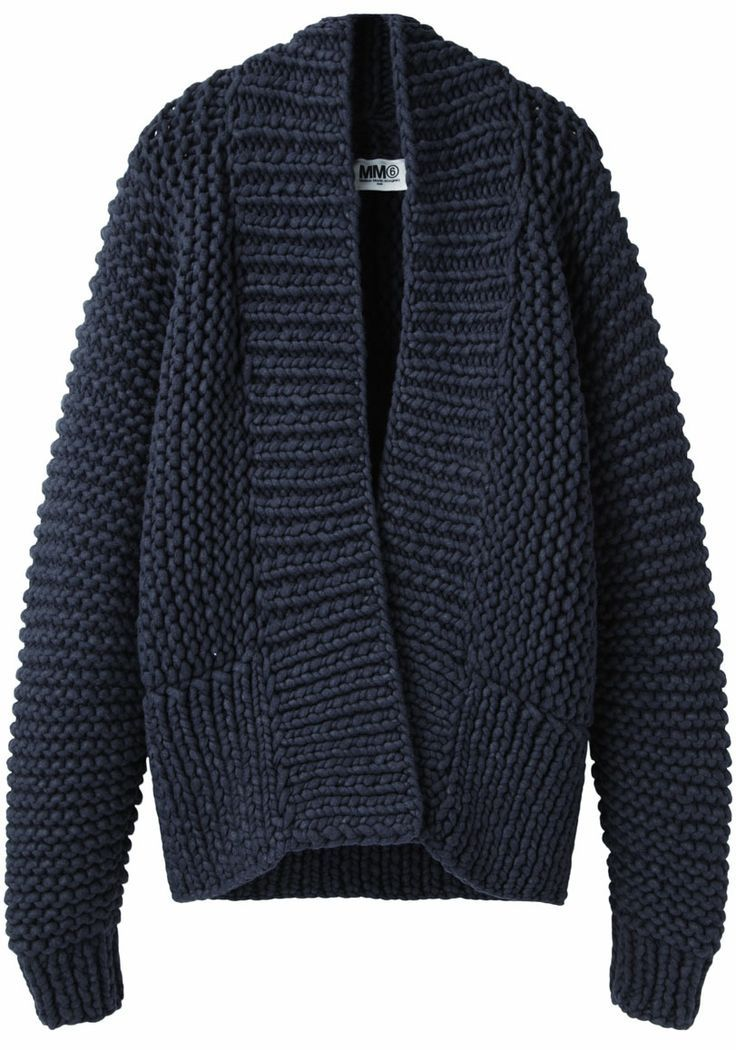 :  MM6 by Maison Martin Margiela Chunky Hand-Knit Cardigan