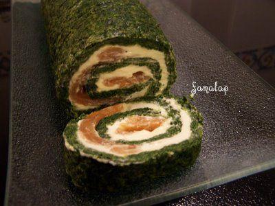 """Cocina fácil """"sin gluten"""": Brazo de gitano de espinacas, filadelphia y salmón"""