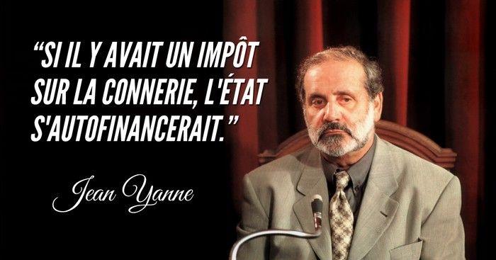 Voici les meilleures citations de Jean Yanne