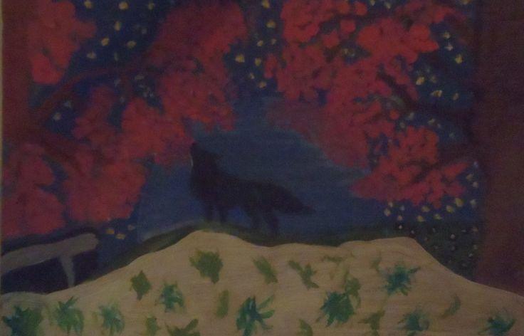 Howling wolf by islazandy