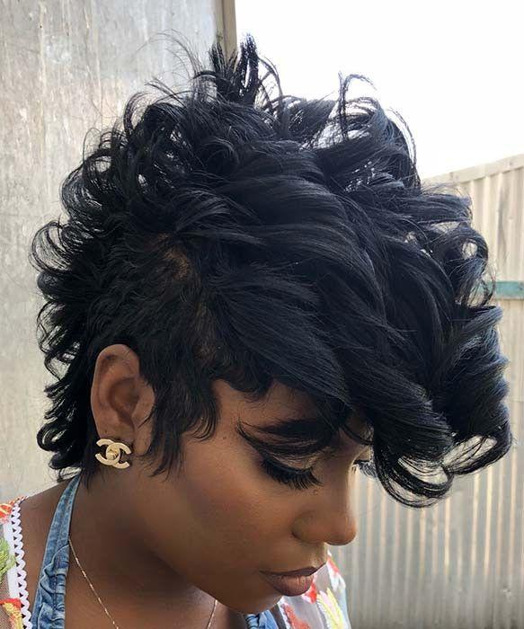 70 Kurze Frisuren Fur Schwarze Frauen Haar Styling Kurze Schwarze Haare Styling Kurzes Haar