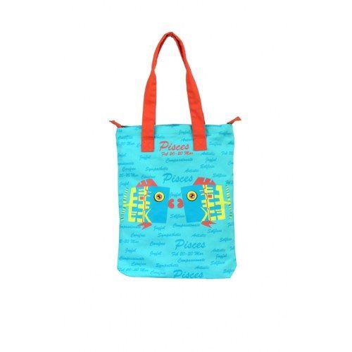 Pices Canvas Blue Bag