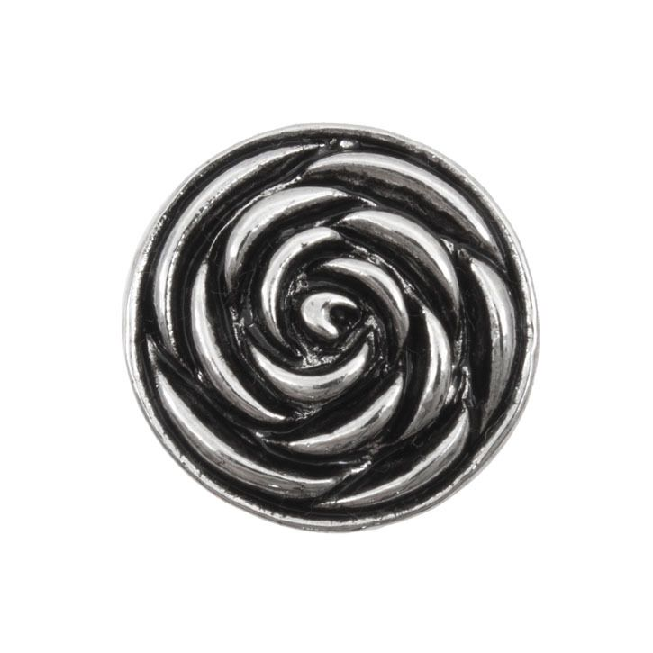 Snap! Metal Interchangeable Fastener Round Rose 19MM Antique Nickel 1pc Off Price Policy - 4005-0101-012 - Club Bead Plus