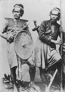 Balinese soldiers in the 1880s.