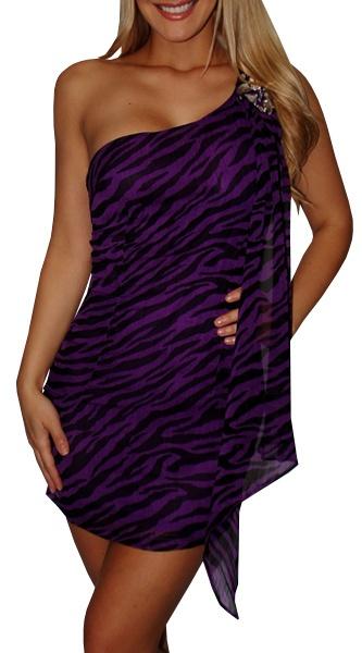 Purple Zebra Print Dress only $33!
