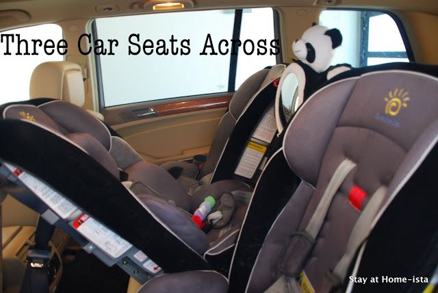 how to fit three children across the back of a car in car seats!