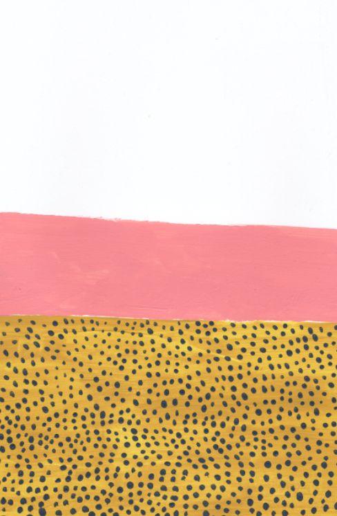 when pattern & palette are one // art via Ashley Goldberg