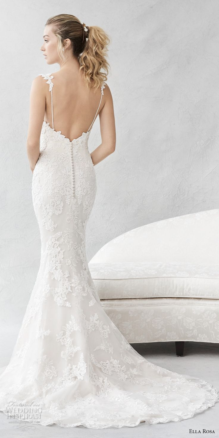 Best 25+ Fitted lace wedding dress open back ideas on ... - photo #43