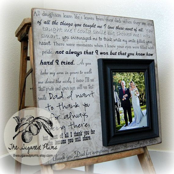 Best 25 parent wedding gifts ideas on pinterest wedding father of the bride picture frame gift parent wedding thank you gift all daughters learn daddy junglespirit Image collections