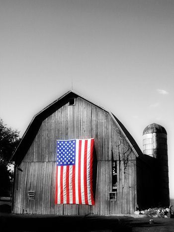 American pride barn: Blessed America, American Flags, Blue, Colors, Black White, God Blessed, 4Th Of July, Usa, Old Barns