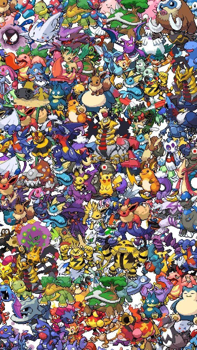 16 bit Pokemon wallpaper! For your iPhone 5 Pinterest